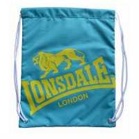 Lonsdale Чанта За Спорт Printed Gym Sack Teal/Yellow Сакове за фитнес