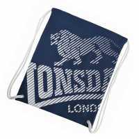 Lonsdale Чанта За Спорт Printed Gym Sack Navy Сакове за фитнес