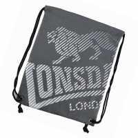 Lonsdale Чанта За Спорт Printed Gym Sack Charcoal Сакове за фитнес