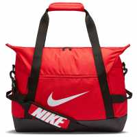 Nike Academy Team Soccer Duffel Bag Small Red Сакове