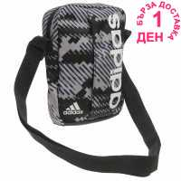 Adidas Linear Graphic Organiser Bag Grey/Wht/Blk Чанти през рамо
