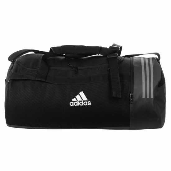 Adidas Convertible 3 Stripe Duffel Bag Black/Grey Сакове за фитнес