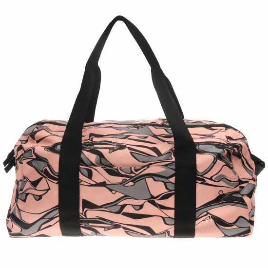 Adidas Training Graphic Duffel Bag Ladies Orange/Grey Дамски чанти