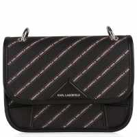 Karl Lagerfeld Logo Cross Body Bag Black A999 Дамски чанти