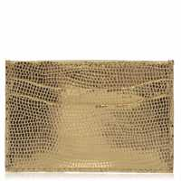 Biba Leather Card Holder Gold Портфейли