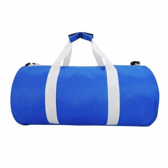 Lonsdale Цилиндрична Чанта Barrel Bag Blue/White Сакове за фитнес