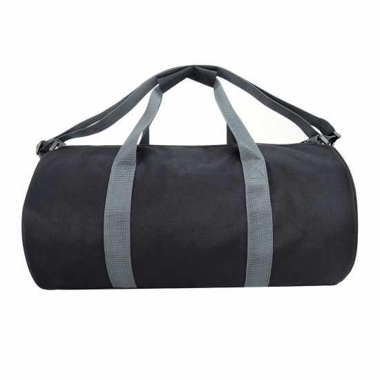 Lonsdale Цилиндрична Чанта Barrel Bag Black/Red Сакове за фитнес