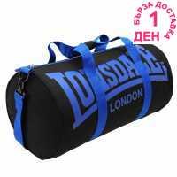 Lonsdale Цилиндрична Чанта Barrel Bag Black/Blue Сакове за фитнес