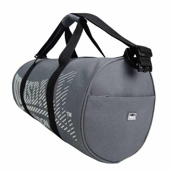 Lonsdale Цилиндрична Чанта Barrel Bag Charcoal/Grey Сакове за фитнес