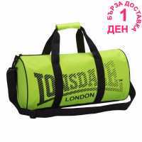 Lonsdale Сак Barrel Bag Fluo Yell/Black Бокс багаж