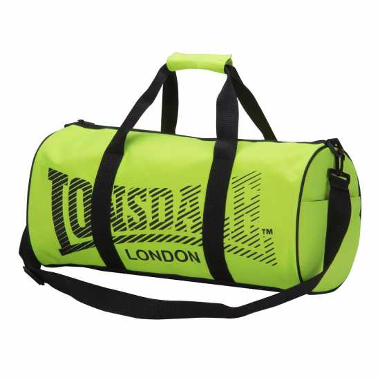 Lonsdale Сак Barrel Bag Fluo Yell/Black Сакове за фитнес