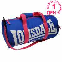 Lonsdale Сак Barrel Bag Blue/Pink Сакове за фитнес