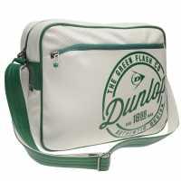 Dunlop Чанта През Рамо С Цип Flash Flight Bag Green/White Чанти през рамо