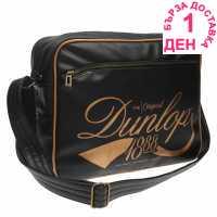 Dunlop Чанта През Рамо С Цип Flash Flight Bag Black/Gold Чанти през рамо