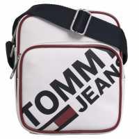 Чанта През Рамо С Цип Tommy Hilfiger Tommy Flight Bag classic white Чанти през рамо