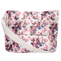 Miso Пощальонска Чанта Satin Messenger Bag Purp Butterfly Чанти през рамо
