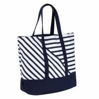 Soulcal Плажна Чанта Beach Bag Navy Stripe Дамски чанти