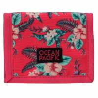 Ocean Pacific Ripstop Ladies Wallet Pink Tropical Дамски чанти