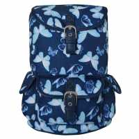 Miso Раница Канава Canvas Backpack 74 Blue Butterfly Дамски чанти