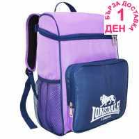 Lonsdale Спортна Раница Sport Backpack Purple/Navy Ученически раници