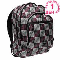 Hot Tuna Раница С Щампа Print Backpack Blk/Wht Check Раници