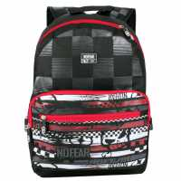 No Fear Скейт Раница Mx Skate Backpack Black/Red/White Раници