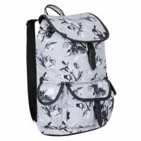 Miso Раница Канава Canvas Backpack Grey Floral Дамски чанти