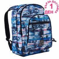 Hot Tuna Раница С Щампа Print Backpack Blue Wave Ученически раници