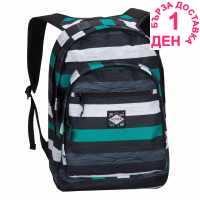 Hot Tuna Раница С Щампа Print Backpack Aqua Stripe Ученически раници
