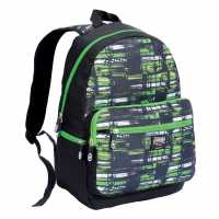 No Fear Скейт Раница Mx Skate Backpack Black/Green Раници