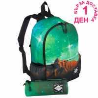 Hot Tuna Galaxy Star Backpack Green Horizon Ученически раници