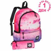 Hot Tuna Galaxy Star Backpack Pink Sunset Ученически раници