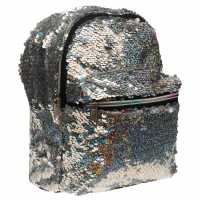 Miso Sequin Small Backpack Silver Дамски чанти