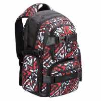 Sale Скейт Раница No Fear Skate Backpack Red/White Ученически раници