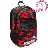 Puma Mini Backpack Black/Red Ученически раници
