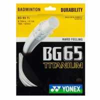 Yonex Badminton String Bg65 Titanium Set White Бадминтон