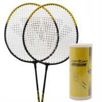 Carlton Комплект Бадминтон За Двама Играчи 2 Player Badminton Set Black/Yellow Бадминтон