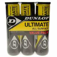 Dunlop Ultimate All Surface Tennis Ball Tri Pack Yellow Топки за тенис