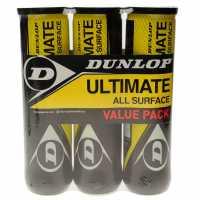 Dunlop Ultimate All Surface Tennis Ball Tri Pack  Топки за тенис