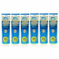 Slazenger Hard Court 6 Pack Tennis Balls Yellow Топки за тенис