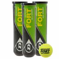 Dunlop Fort All Court Tennis Balls (4 Ball Tube)