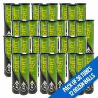 Dunlop Fort All Court Tennis Balls (4 Ball Tube) Yellow 12 Dozen Топки за тенис