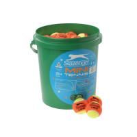 Slazenger Mini Tennis Orange Balls 5 Dozen Bucket Orange Топки за тенис