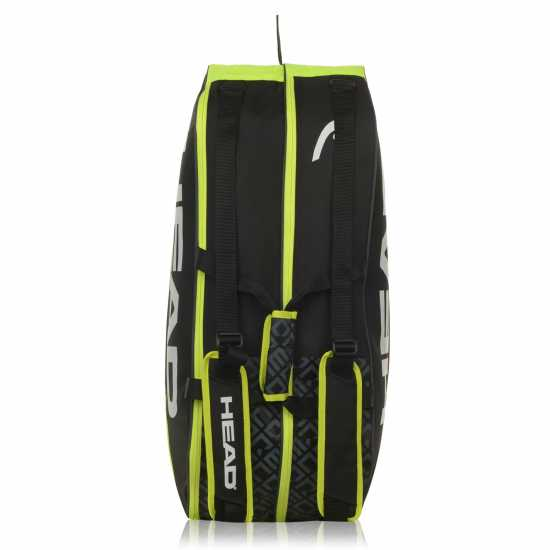 Head Core Combi 6Rkt 93 Black/Lime Чанти за ракети