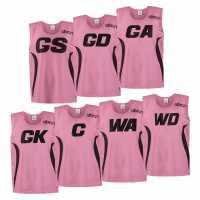 Albion Netball Bibs Girls Pink Нетбол