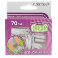 Outdoor Equipment Mr Lacy Flexies Elastic Laces White Връзки за обувки