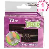 Mr Lacy Flexies Elastic Laces Black Стелки за обувки