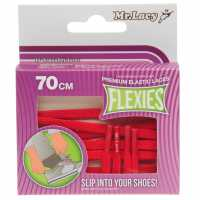 Outdoor Equipment Mr Lacy Flexies Elastic Laces Red Връзки за обувки