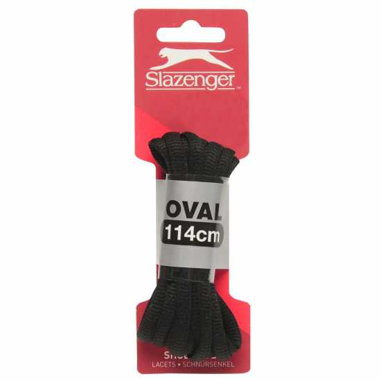 Slazenger Shoe Laces Oval Black Промоционални оферти 1
