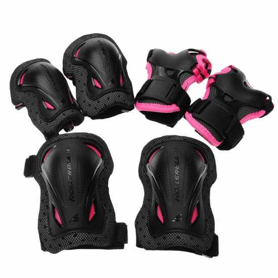 Rollerblade Protective Gear Junior Girls Black/Pink Скейт аксесоари